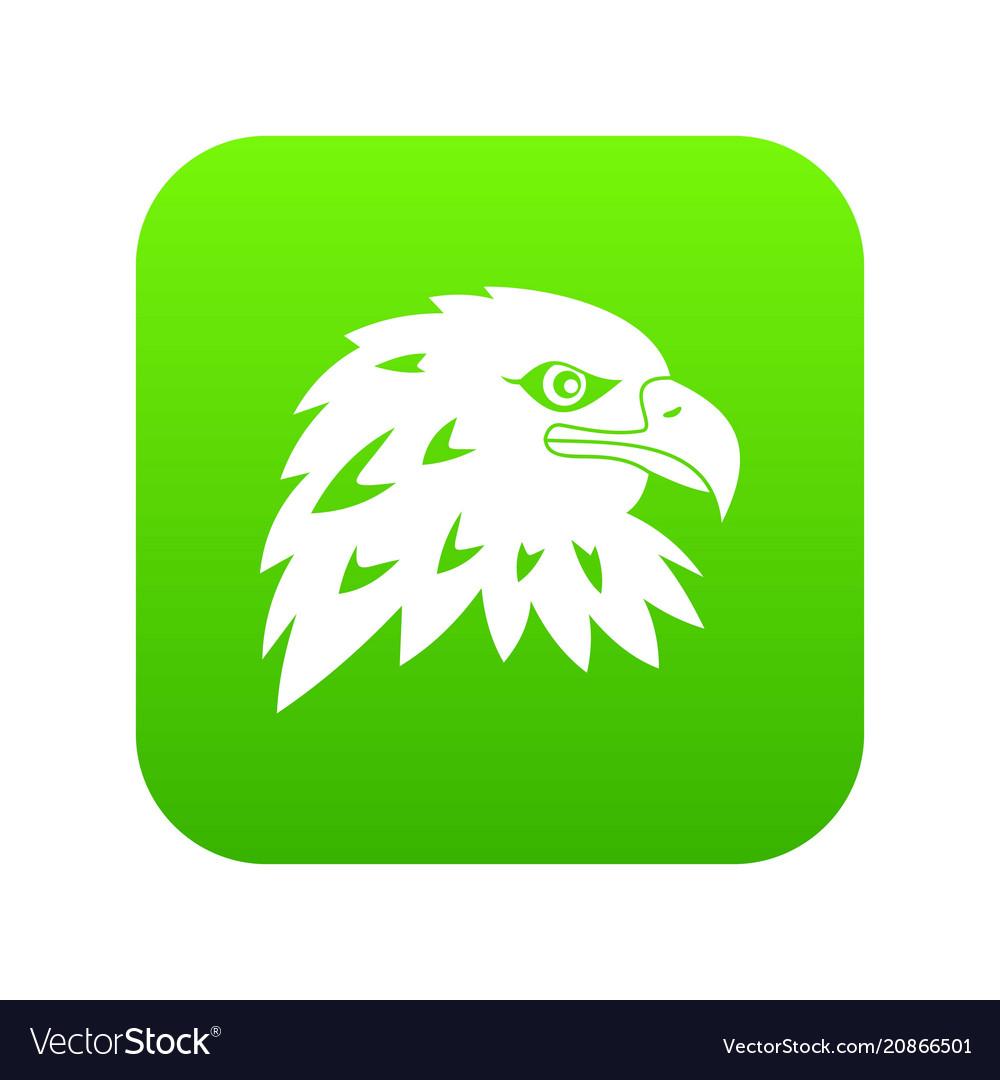 Eagle icon digital green vector image