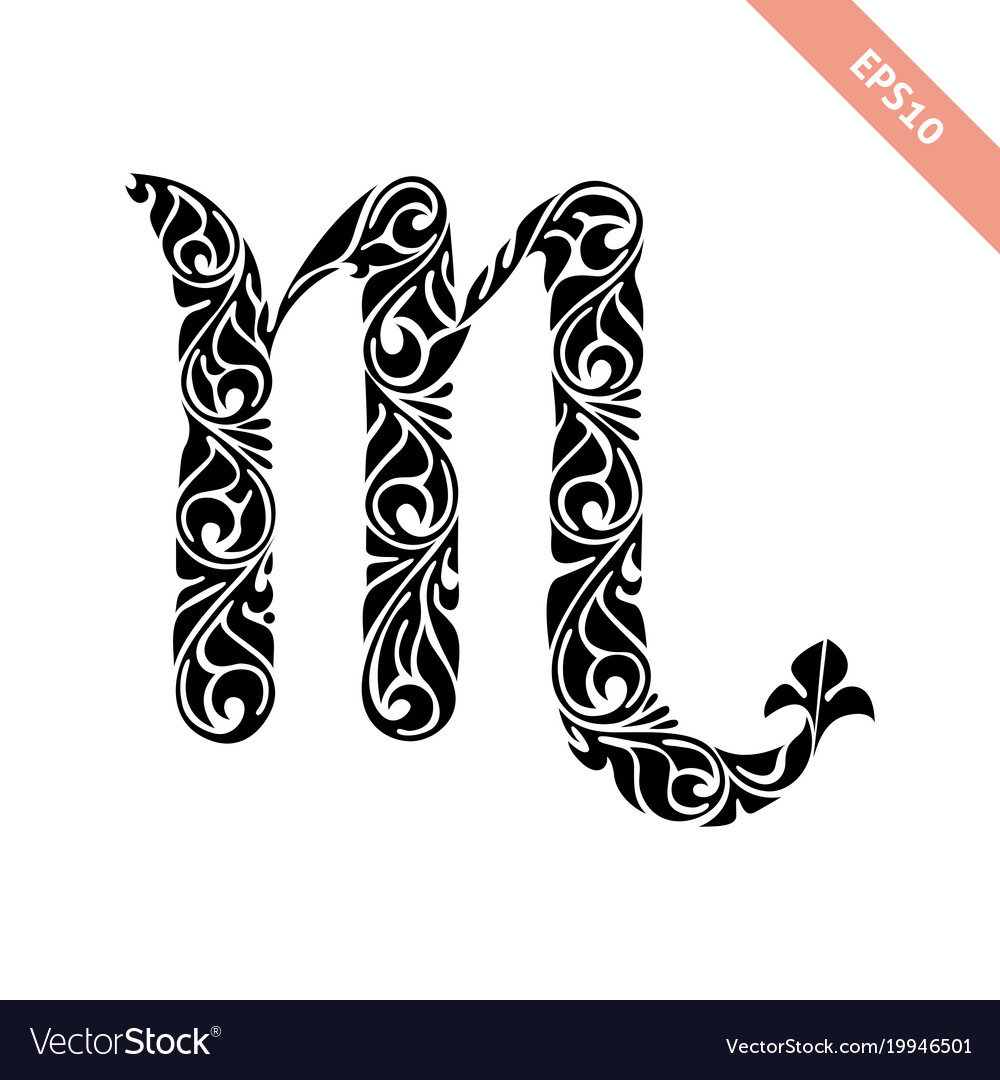 Horoscope Symbol Scorpio Royalty Free Vector Image