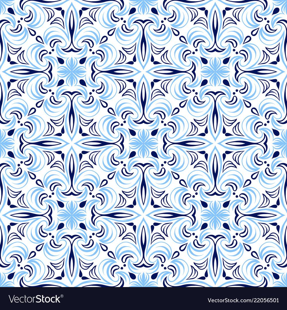 Italian tile pattern ethnic folk ornament