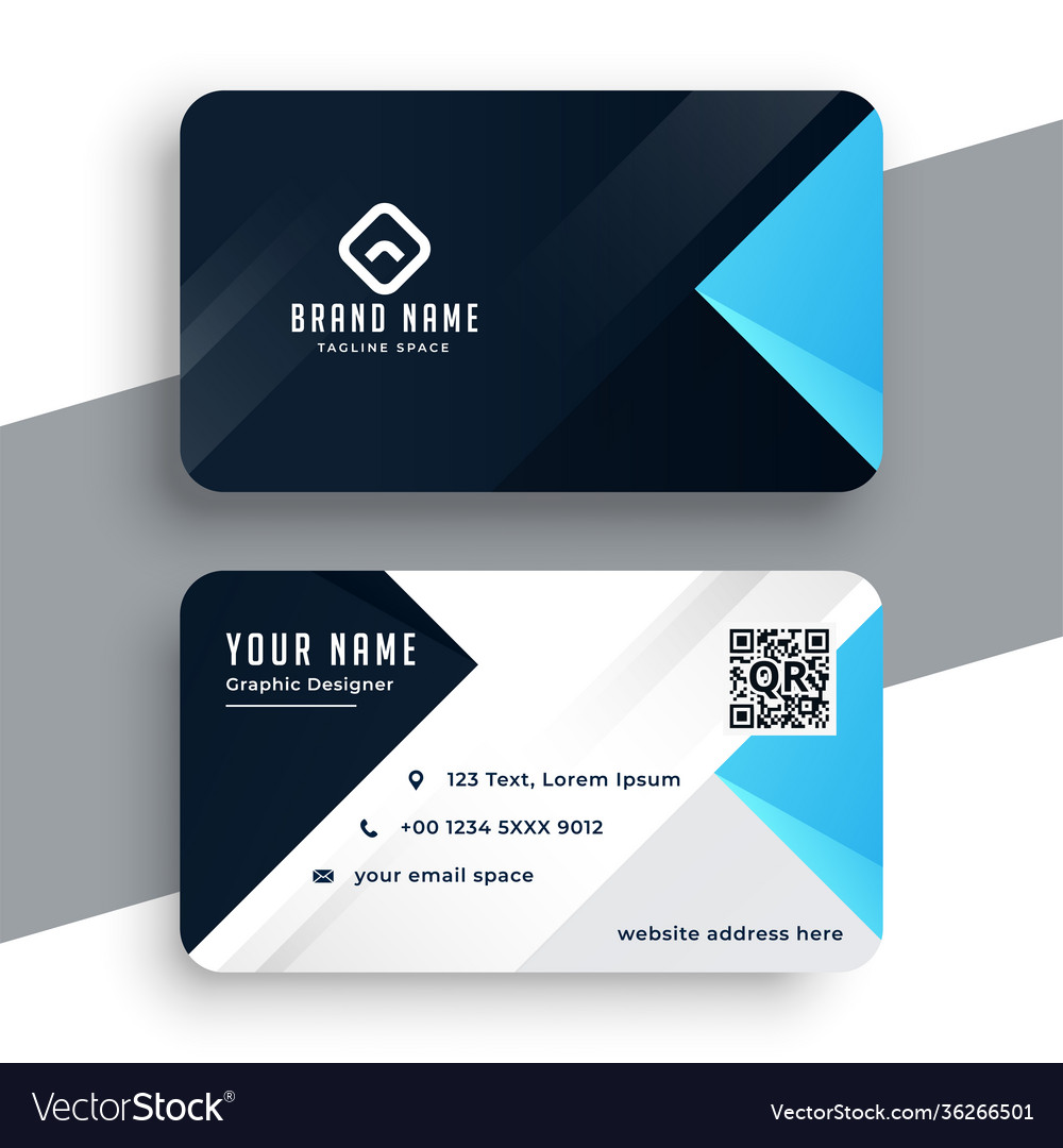 Nice blue business card modern template design