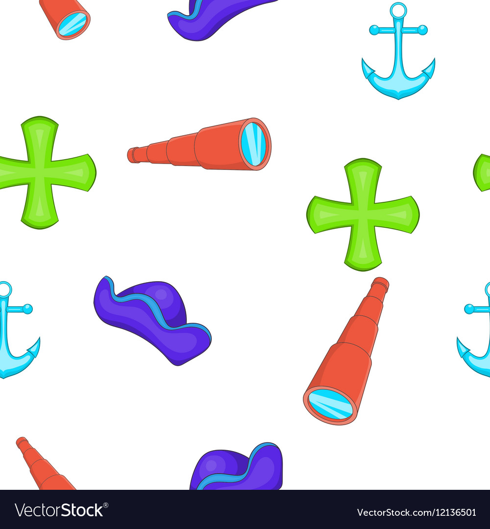 Sailing equipment pattern cartoon style vector image