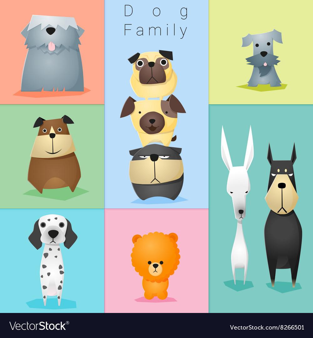 Set of dog family 3