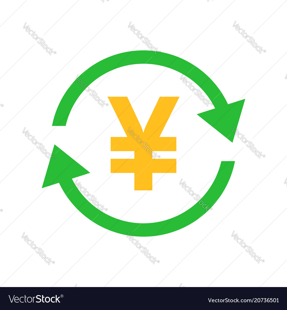 Yen Yuan Money Currency Icon In Flat Style Yen Vector Image
