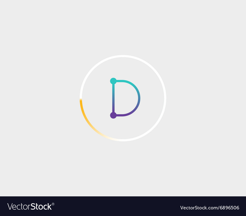 Letter D Templates.Abstract Letter D Logo Design Template Colorful
