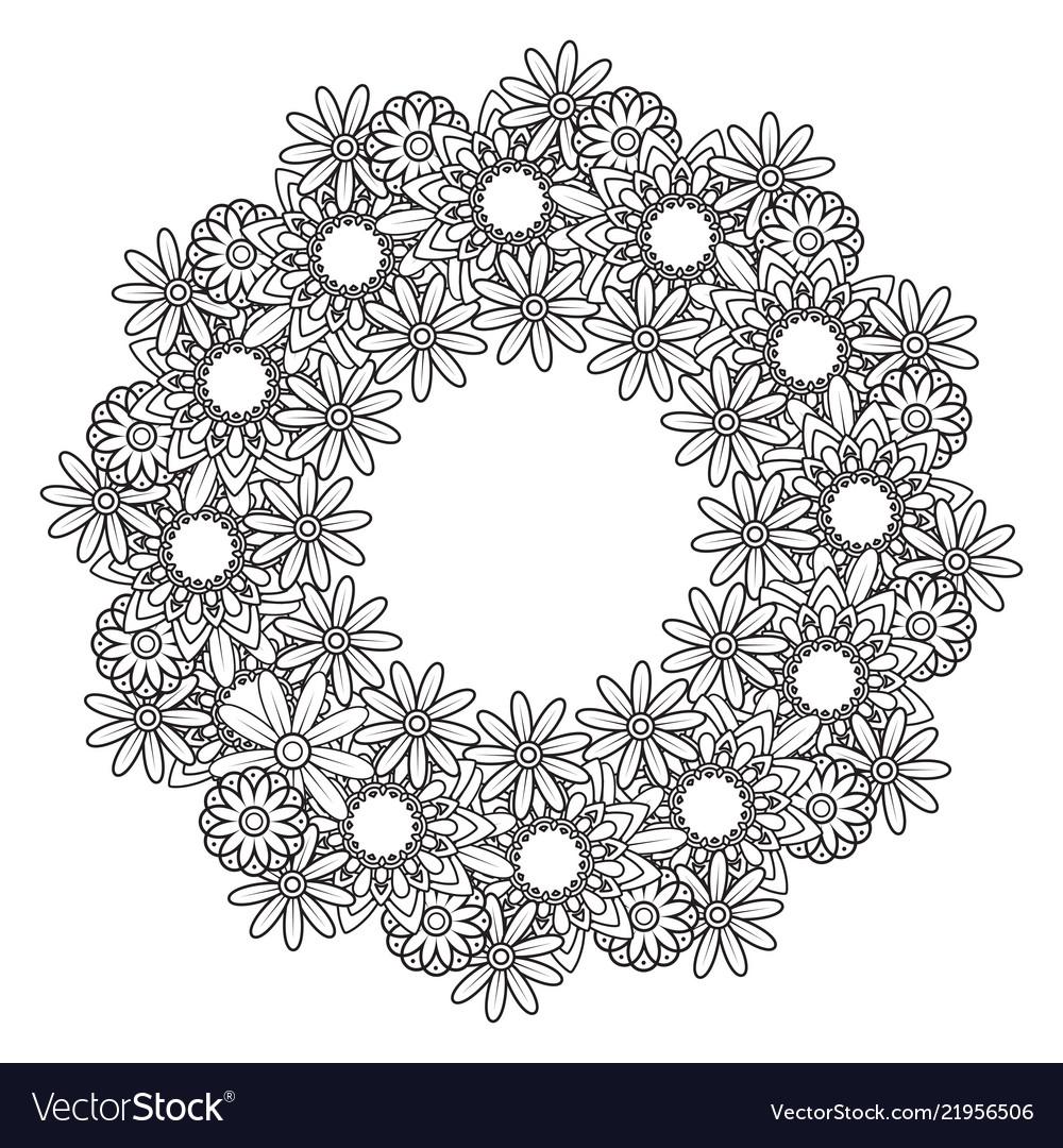 Floral mandala pattern