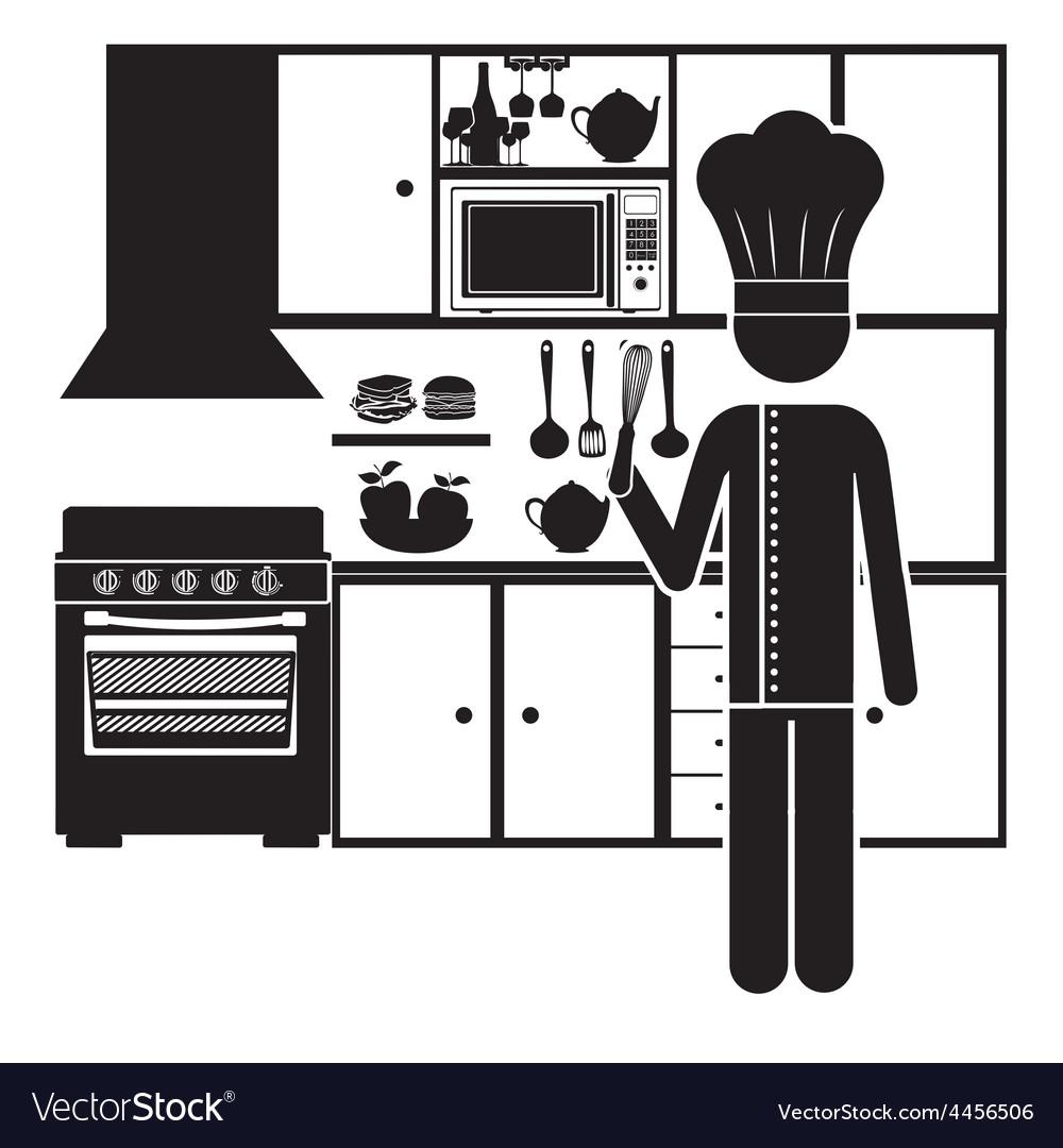 Kitchen design vector art download kitchen vectors 4456506 for Kitchen design vector