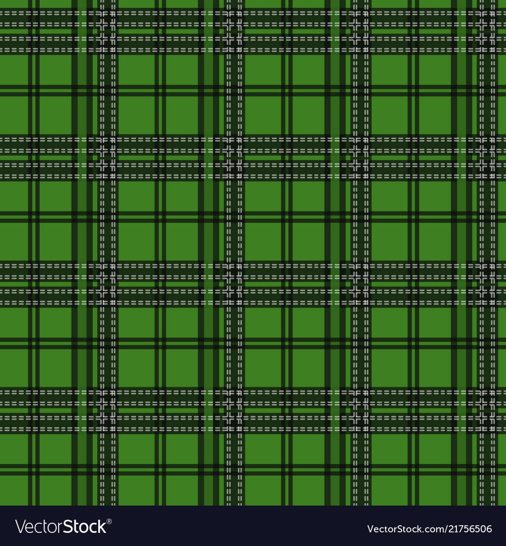 Seamless tartan plaid pattern in christmas color