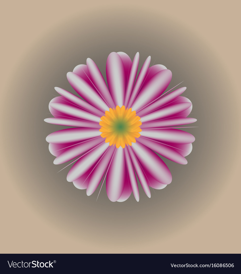 Semi-realistic flower background vector image