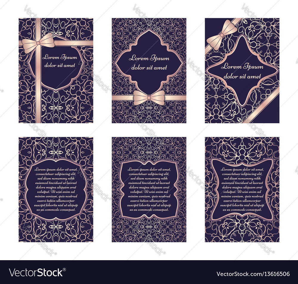 Set of delicate greeting cards