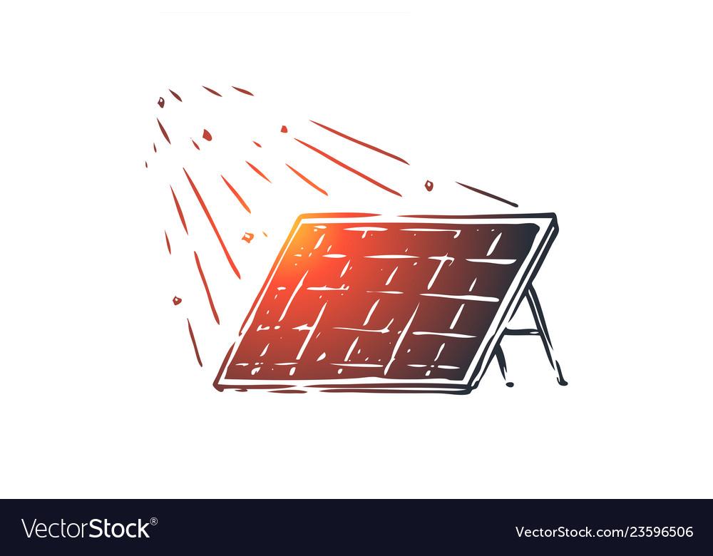 Solar energy panel sun alternative concept