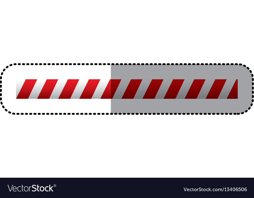 Sticker barrier icon line caution sign vector image