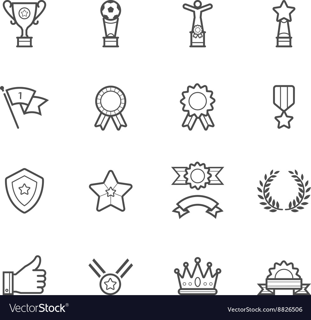 Trophy Prize and Awards Icons