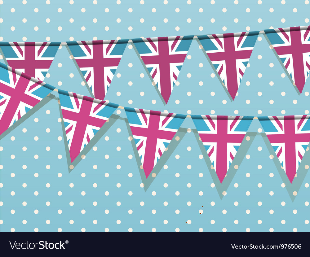 Union Jack Bunting vector image