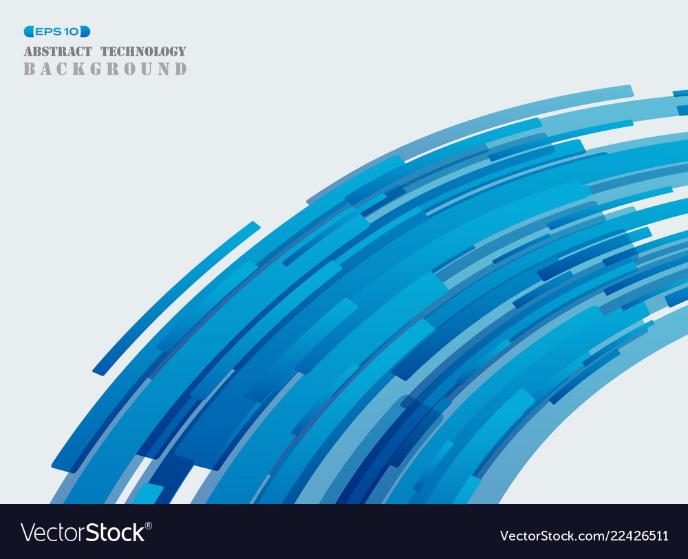 Abstract futuristic technology blue strip line