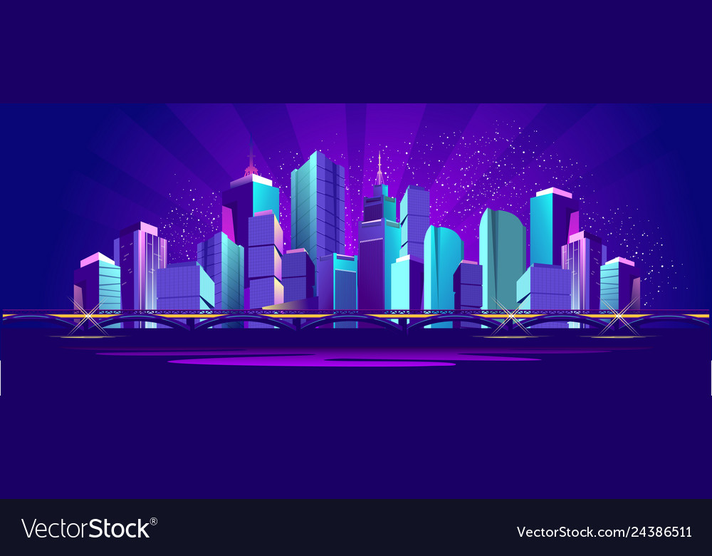 Banner night city