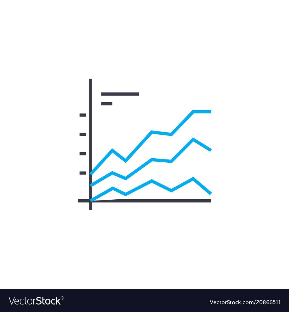 Comparative chart thin line stroke icon