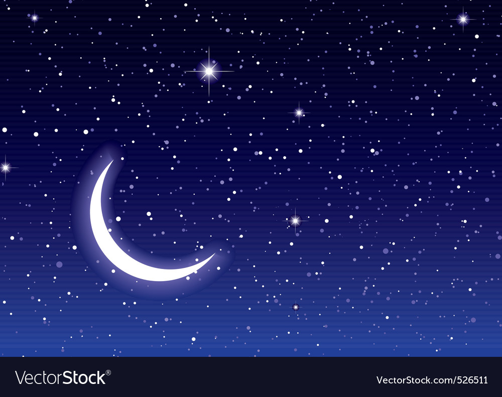 Space moon sky vector image