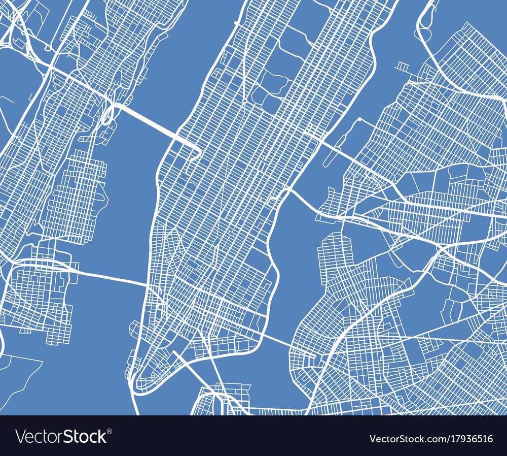 Free Map Of New York City.Aerial View Usa New York City Street Map