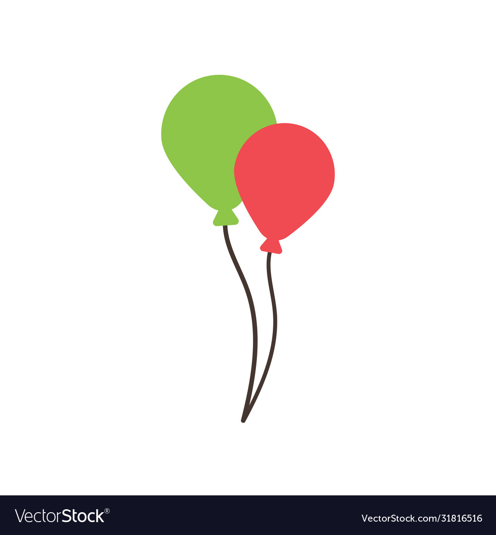 Balloon party graphic design template isolated