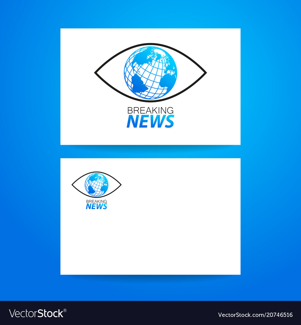 Breaking news logo template