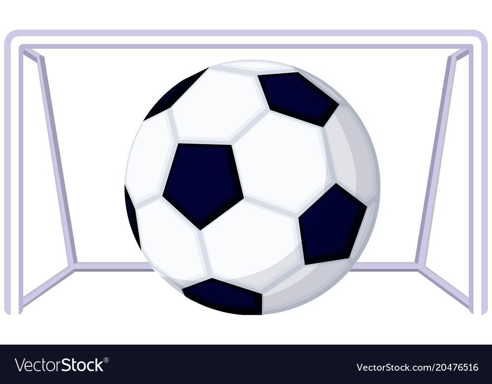 Cartoon soccer football game goal icon