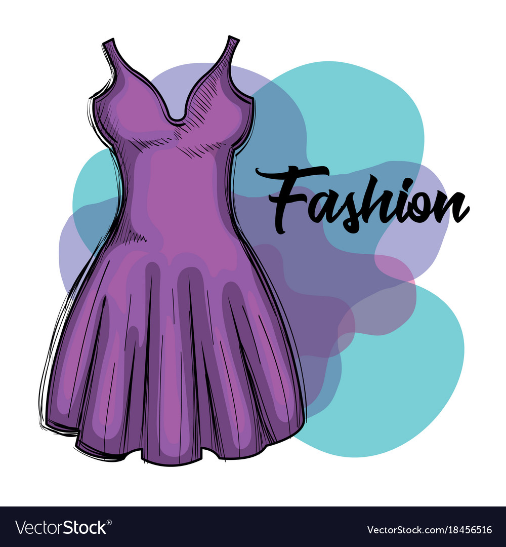 Female fashion dress icon