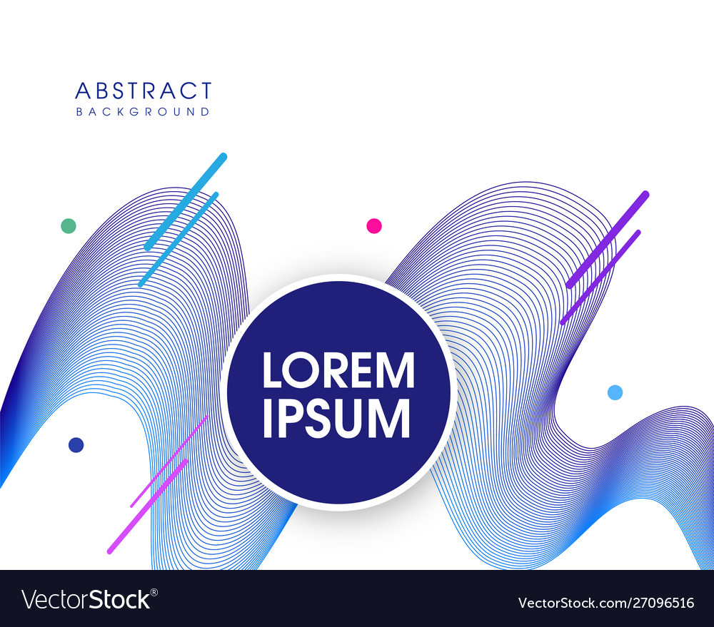 Modern abstract flowing background