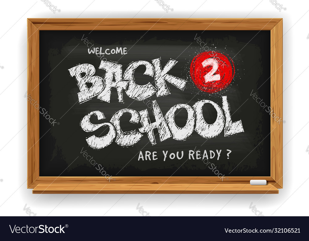 Back to school design with school chalkboard and