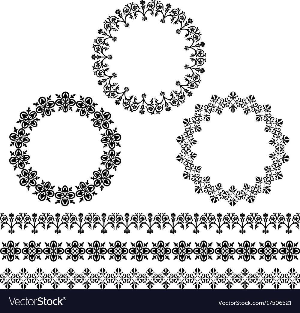 Black circle frames and border patterns