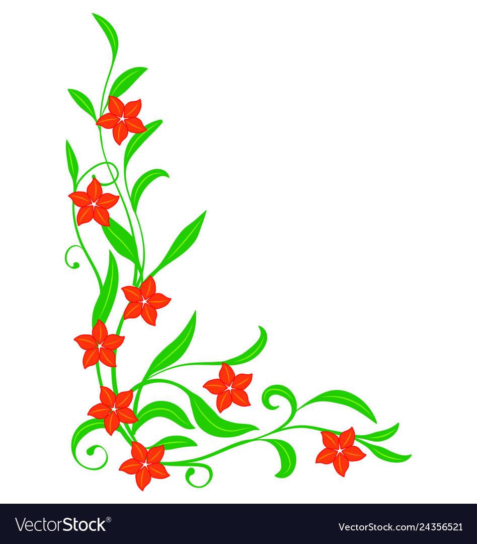 decorative floral corner royalty free vector image vectorstock