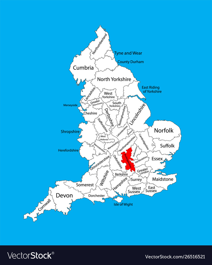 Map Of Southern England Uk.Map Buckinghamshire South East England Uk