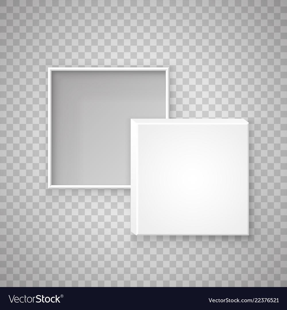 Open paper square box