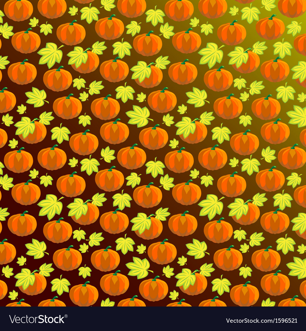 Pumpkin Pattern Background vector image