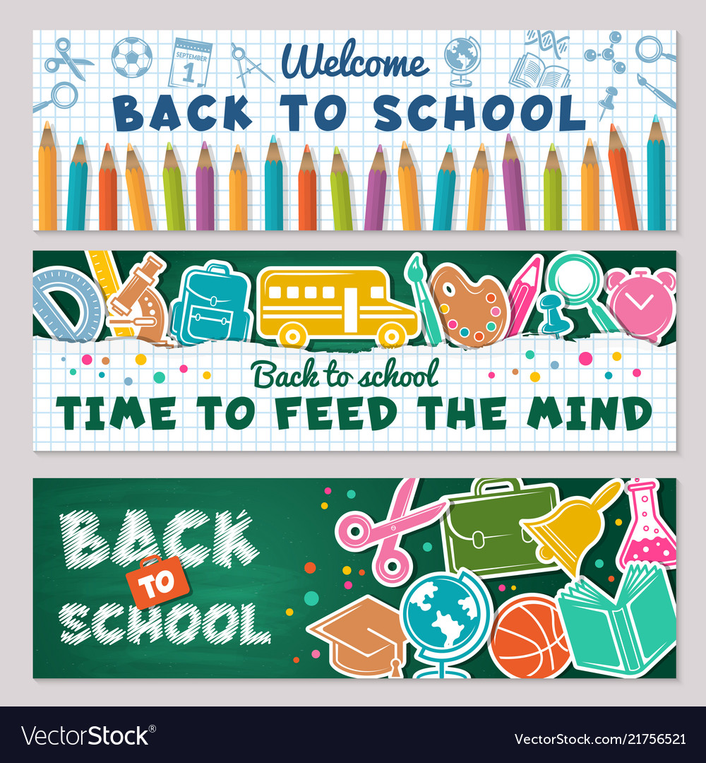 School banners for back to