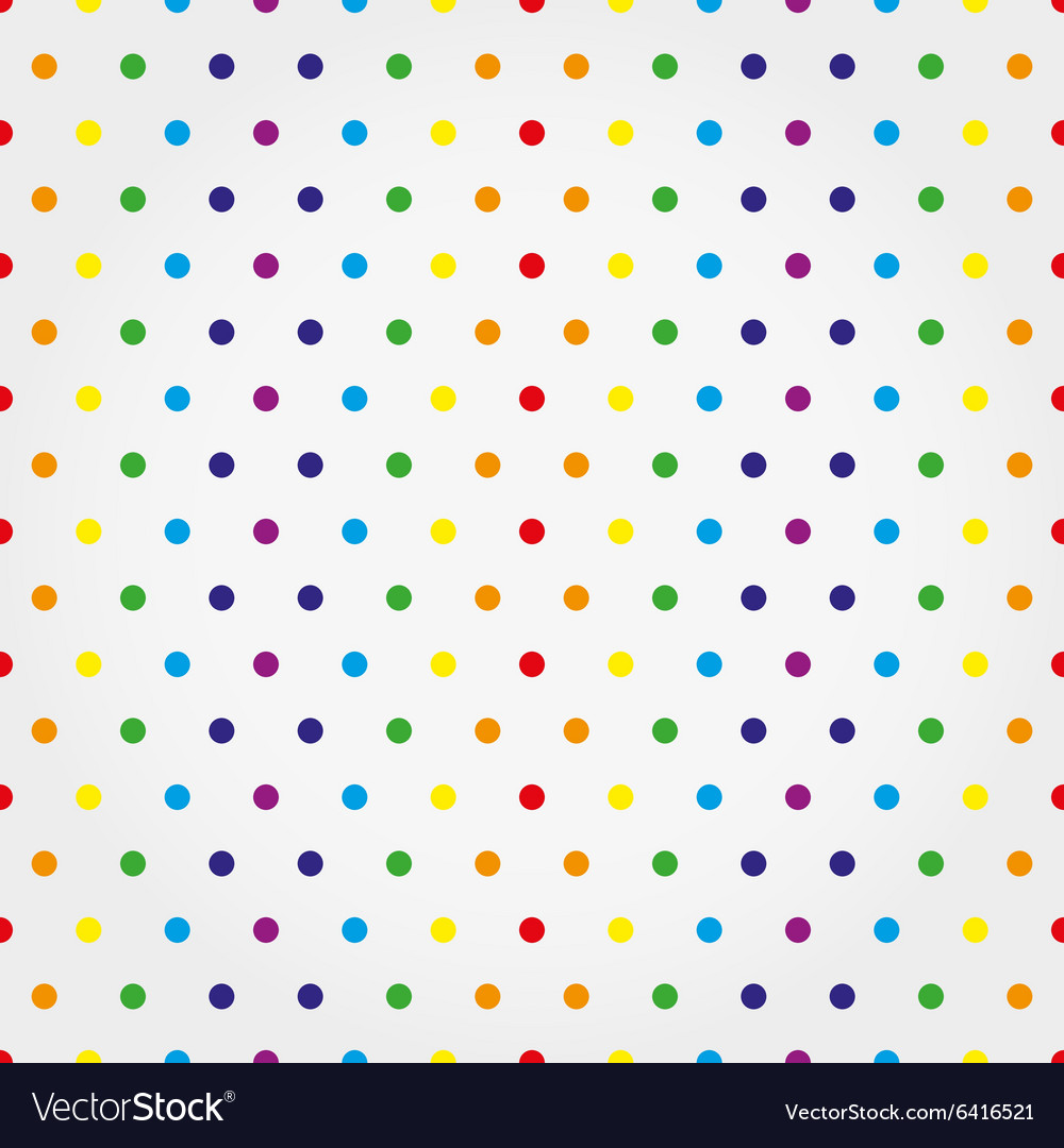Seamless pattern with colorful polka dots