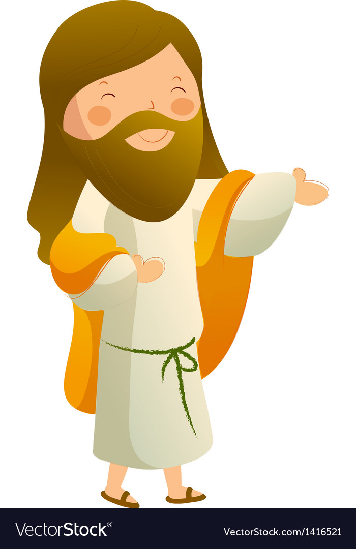 Side view of Jesus Christ smiling vector image