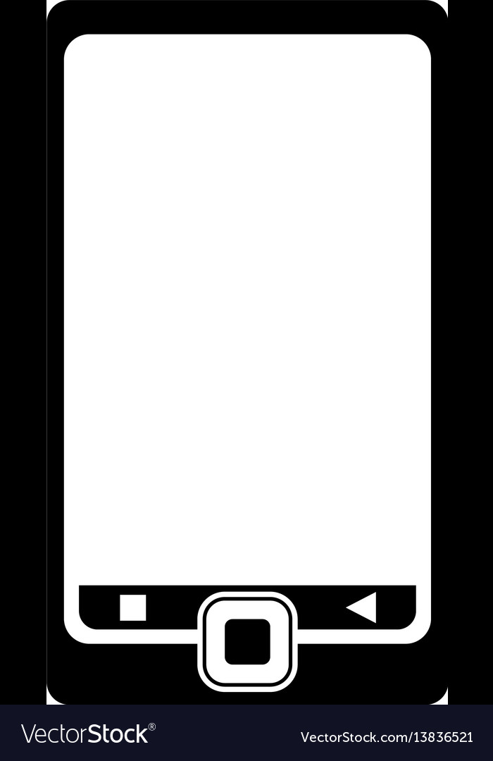 Smartphone mobile technology device pictogram vector image