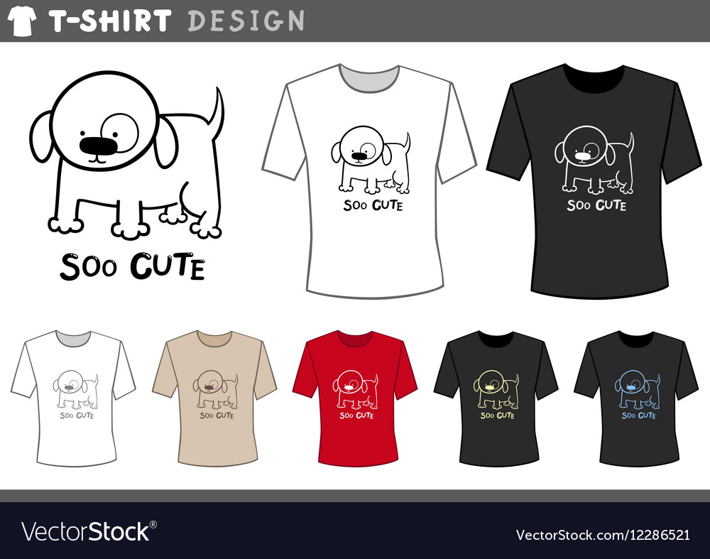 ae1b28014 T shirt design with cute dog Royalty Free Vector Image