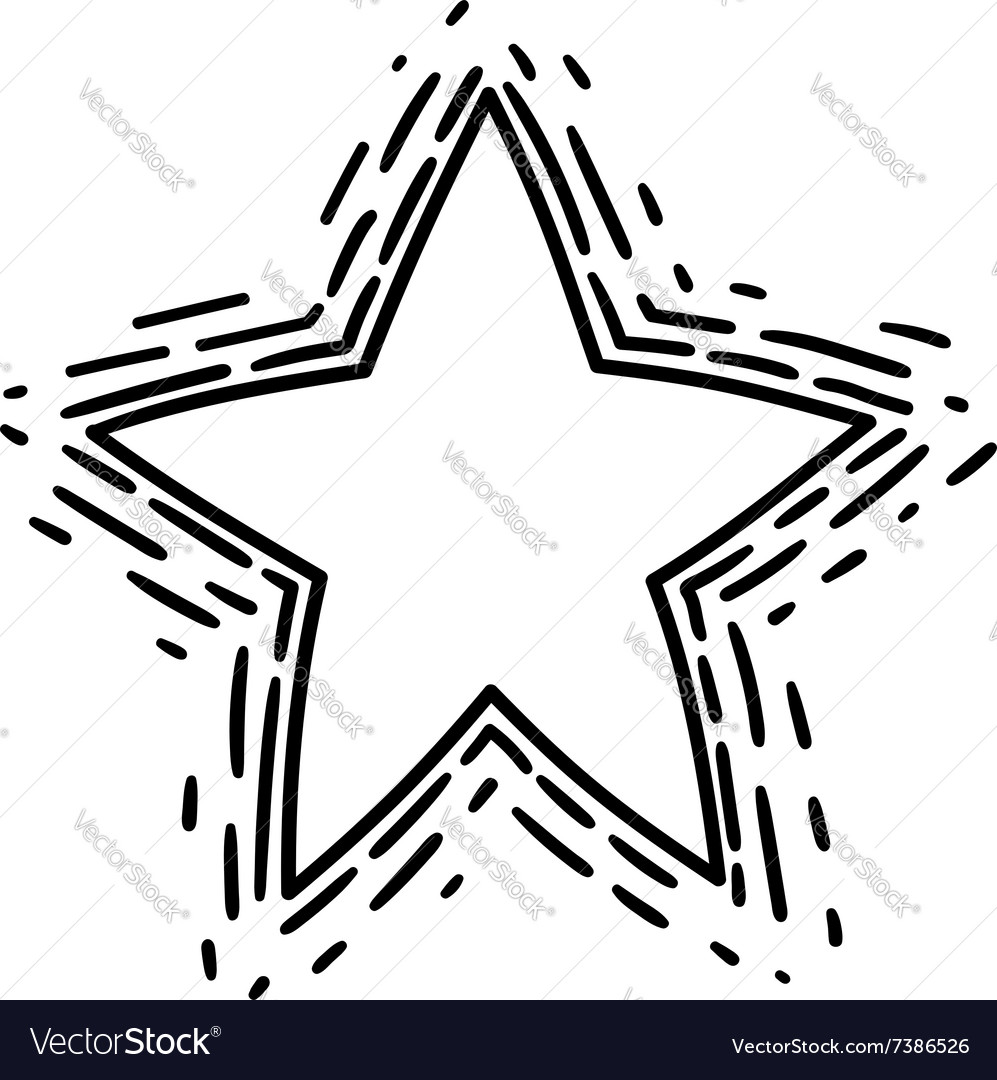 A drawn star