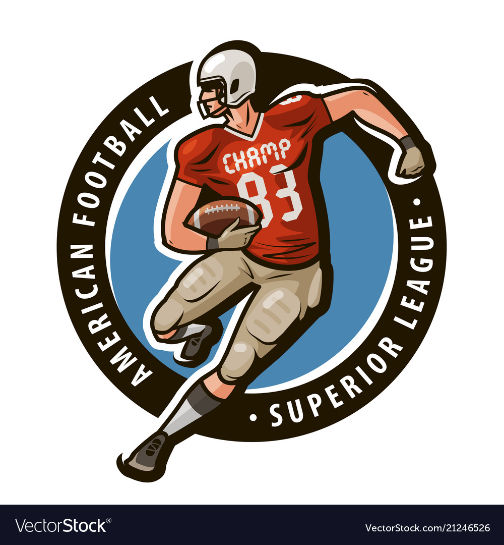 American football logo or label sport concept