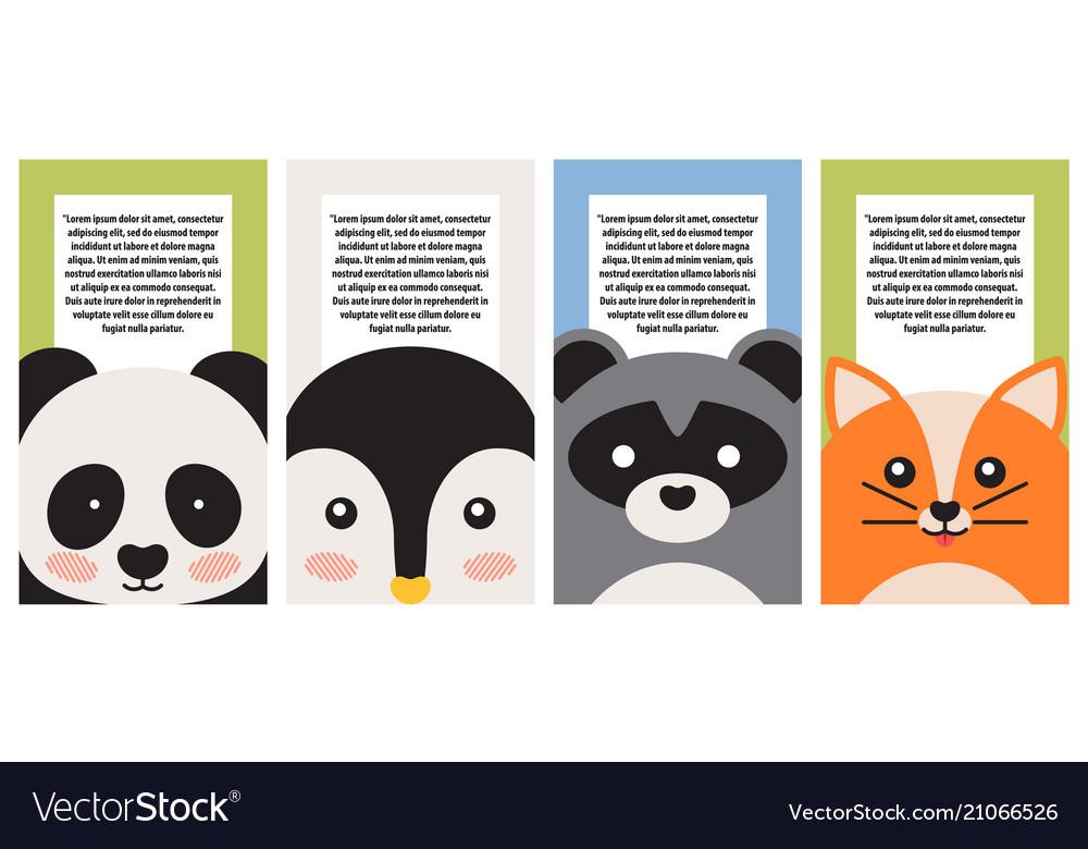 Animal collection closeup faces banner