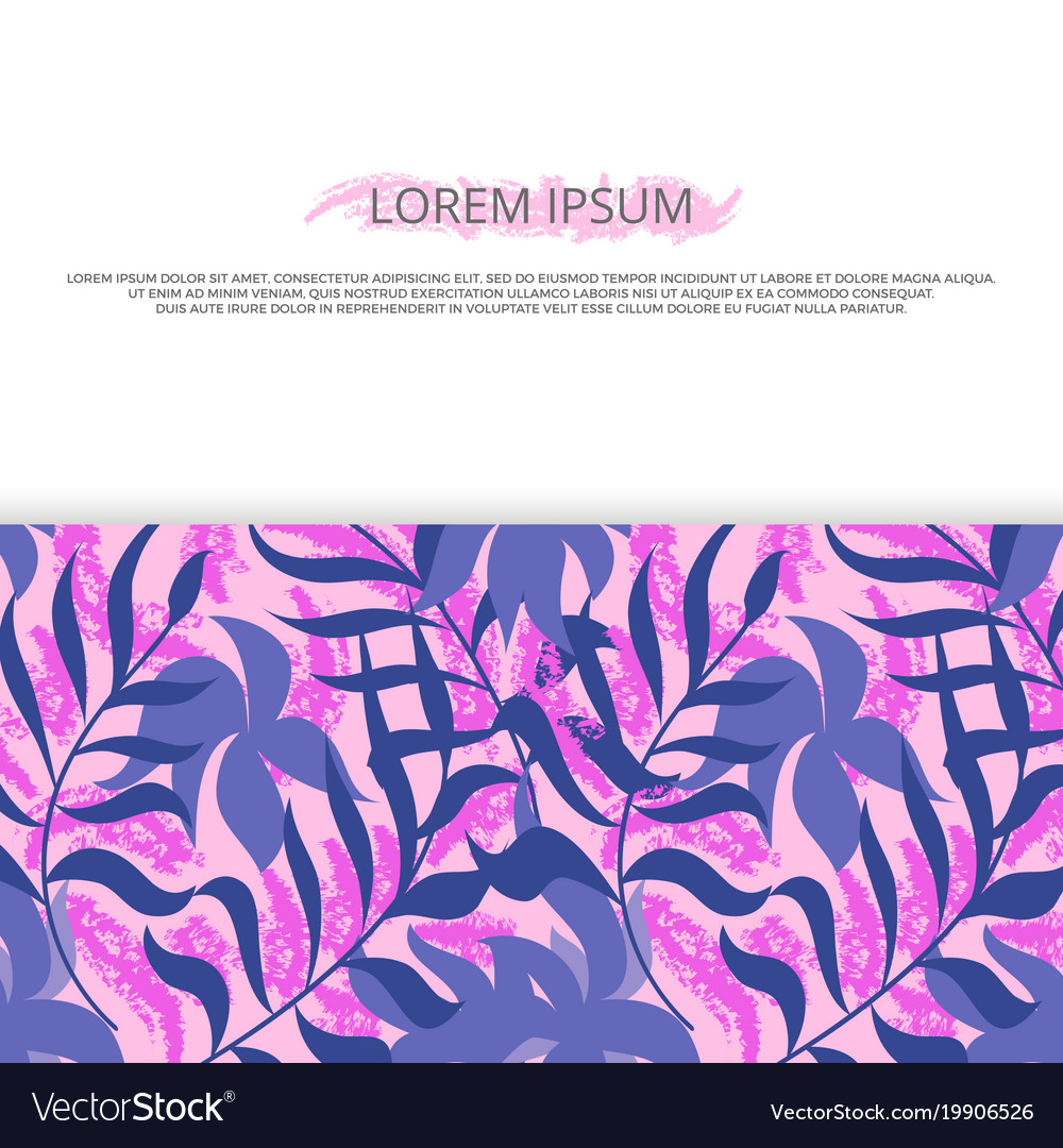 Background banner with clorful hawaii leaves