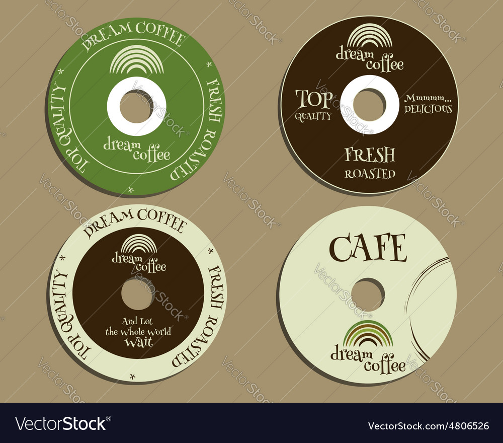 Brand Identity Elements Cd Dvd Templates Sign Vector Image