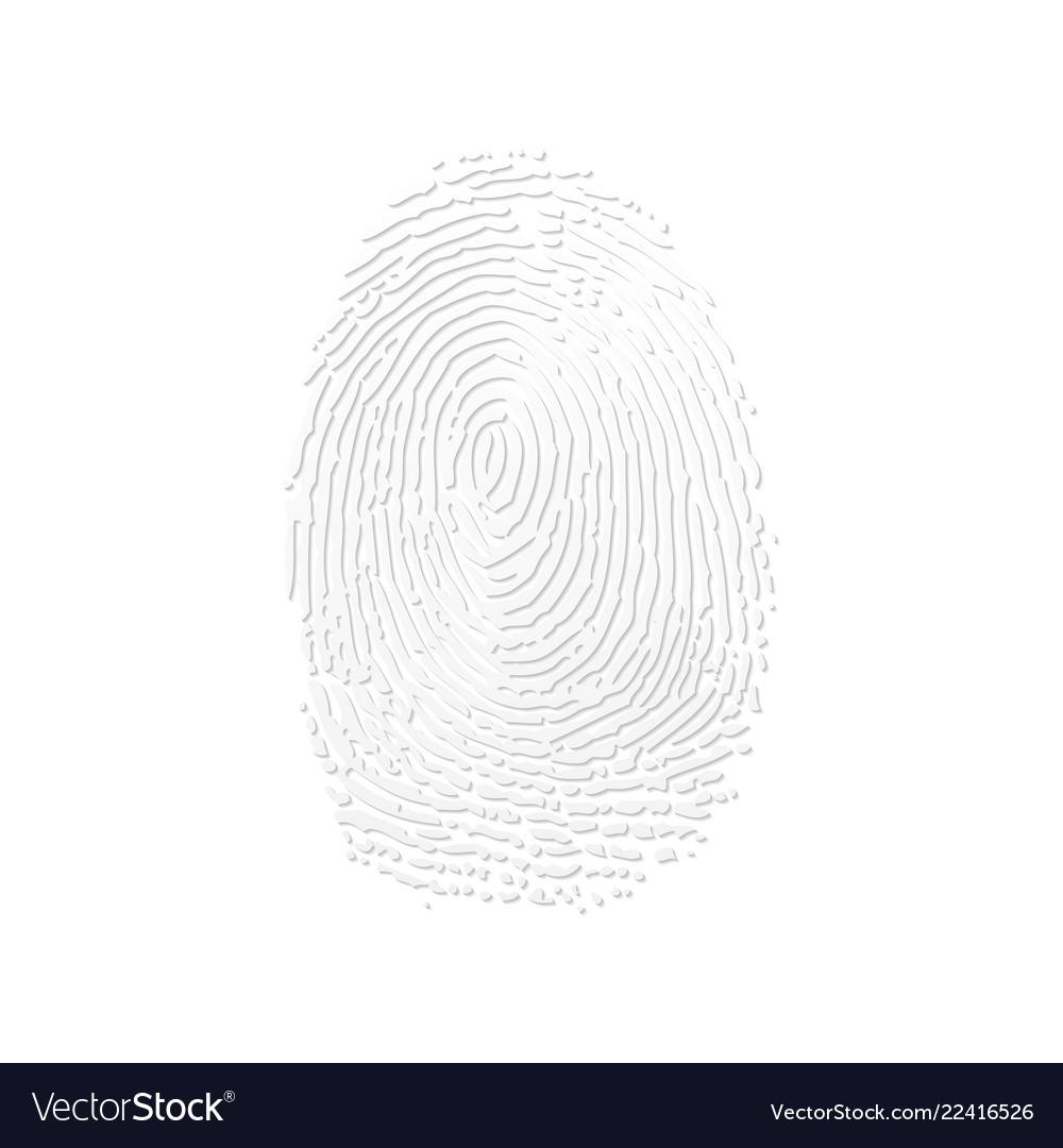 Fingerprint white silhouette