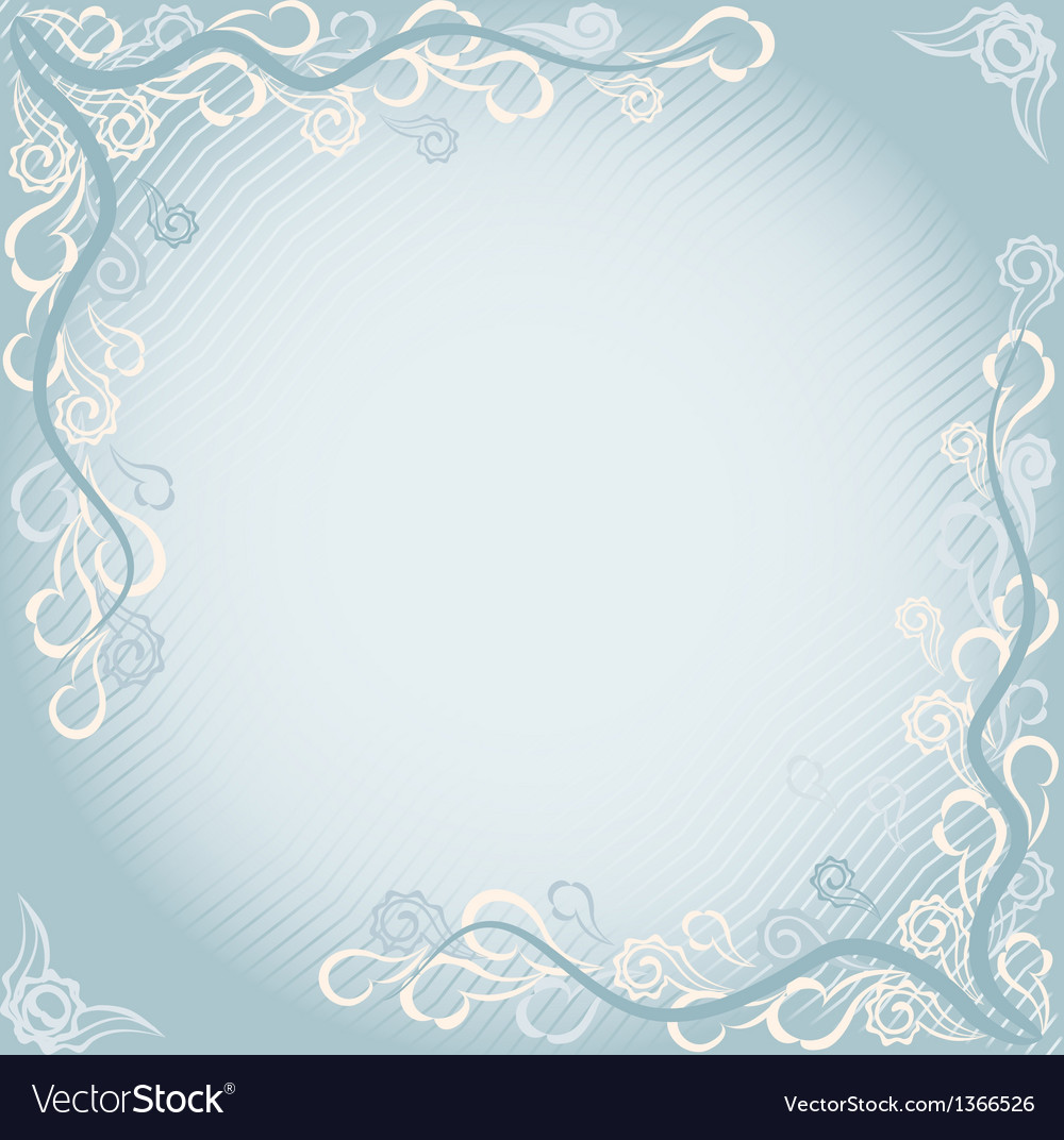 Floral card in eastern style vector image