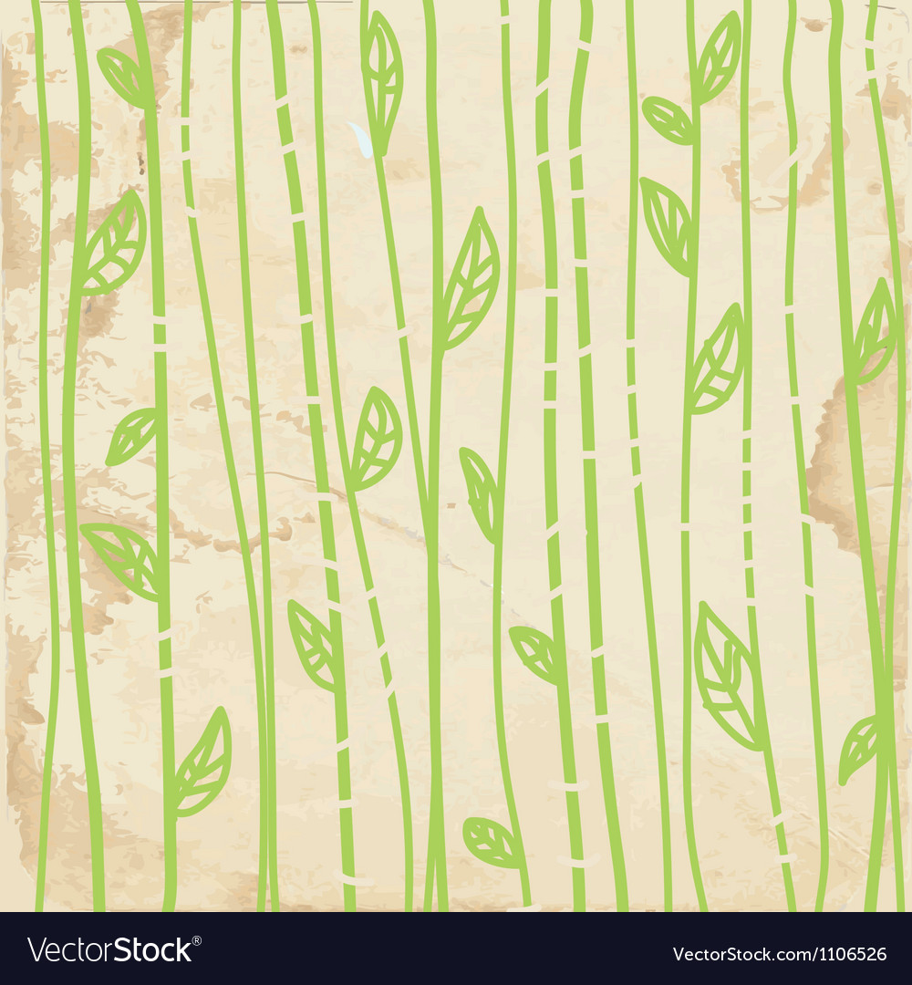 Leaves graphic seamless pattern vector image