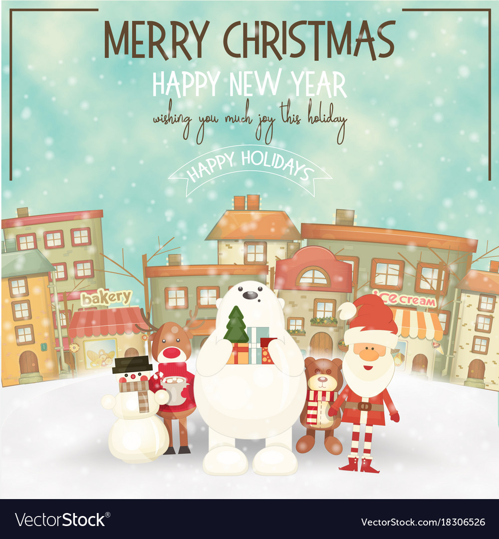 Merry christmas greeting card royalty free vector image merry christmas greeting card vector image m4hsunfo