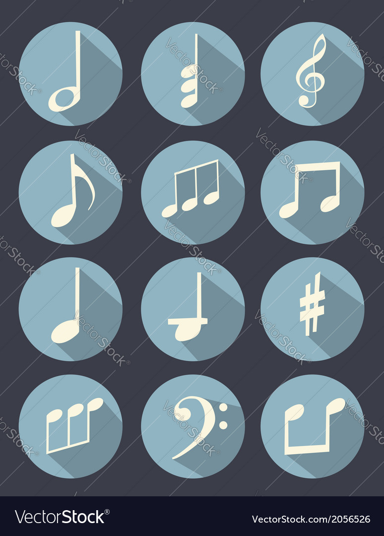 Music note flat design