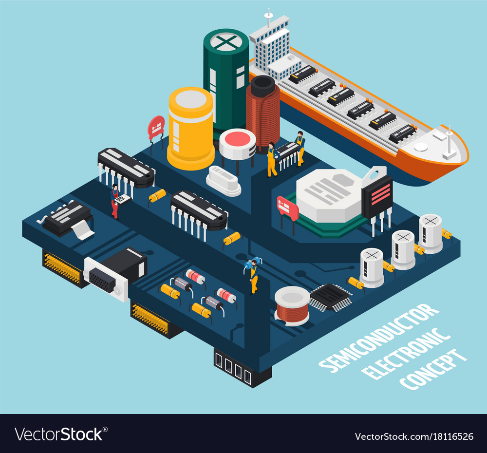 Semiconductor electronic components seaport