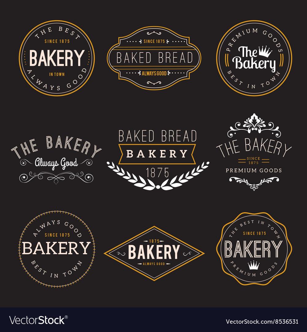 Bakery Badge Design Elements